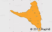 Political Simple Map of Nzwani, cropped outside