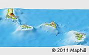 Physical Panoramic Map of Comoros