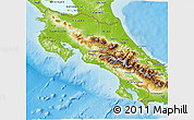 Physical 3D Map of Costa Rica