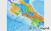 Political 3D Map of Costa Rica