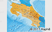 Political Shades 3D Map of Costa Rica