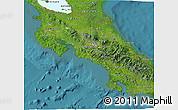 Satellite 3D Map of Costa Rica