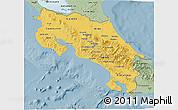 Savanna Style 3D Map of Costa Rica