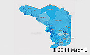 Political Shades 3D Map of Alajuela, cropped outside