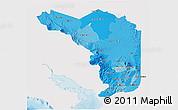 Political Shades 3D Map of Alajuela, single color outside