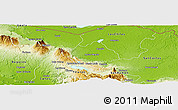Physical Panoramic Map of Guatuso