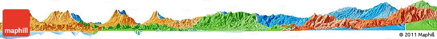 Political Shades Horizon Map of Alajuela
