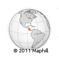 Outline Map of Los Chiles