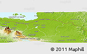Physical Panoramic Map of Los Chiles