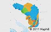 Political Map of Alajuela, single color outside