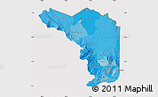 Political Shades Map of Alajuela, cropped outside
