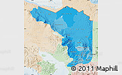 Political Shades Map of Alajuela, lighten