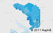 Political Shades Map of Alajuela, single color outside