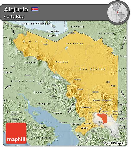 Savanna Style Map of Alajuela