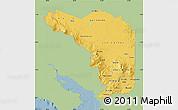 Savanna Style Map of Alajuela, single color outside