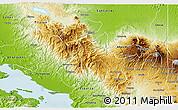 Physical 3D Map of San Ramon