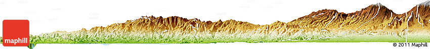 Physical Horizon Map of San Ramon