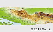 Physical Panoramic Map of San Ramon