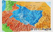 Political Shades 3D Map of Cartago