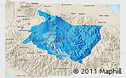 Political Shades 3D Map of Cartago, shaded relief outside