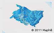 Political Shades 3D Map of Cartago, single color outside
