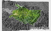 Satellite 3D Map of Cartago, desaturated