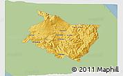 Savanna Style 3D Map of Cartago, single color outside