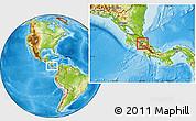 Physical Location Map of Alvarado