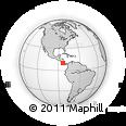 Outline Map of Alvarado