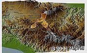 Physical 3D Map of Cartago, darken