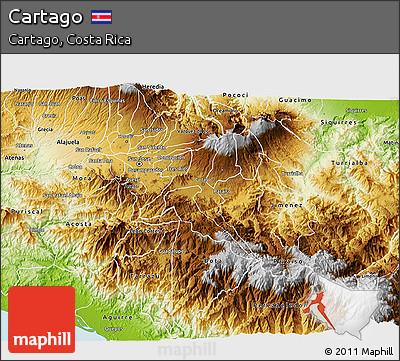 Physical 3D Map of Cartago