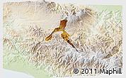 Physical 3D Map of Cartago, lighten