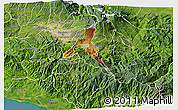 Physical 3D Map of Cartago, satellite outside