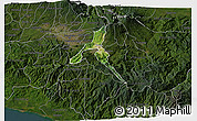 Satellite 3D Map of Cartago, darken