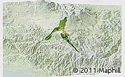Satellite 3D Map of Cartago, lighten