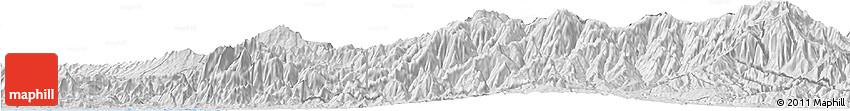 Silver Style Horizon Map of Cartago