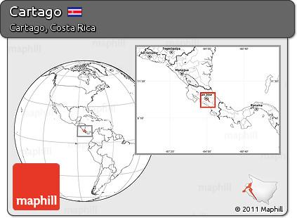 Blank Location Map of Cartago