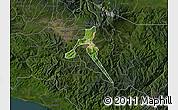 Satellite Map of Cartago, darken