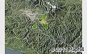 Satellite Map of Cartago, semi-desaturated
