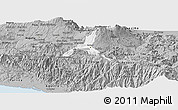 Gray Panoramic Map of Cartago