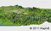 Satellite Panoramic Map of Cartago
