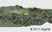 Satellite Panoramic Map of Cartago, semi-desaturated