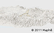 Shaded Relief Panoramic Map of Cartago, lighten