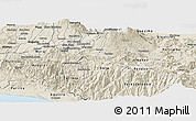Shaded Relief Panoramic Map of Cartago