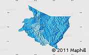 Political Shades Map of Cartago, cropped outside
