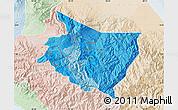 Political Shades Map of Cartago, lighten