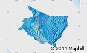 Political Shades Map of Cartago, single color outside