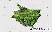 Satellite Map of Cartago, cropped outside