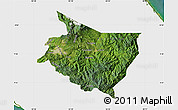 Satellite Map of Cartago, single color outside