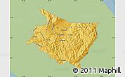 Savanna Style Map of Cartago, single color outside